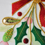 Goldwork And Silk Shading Christmas Spray