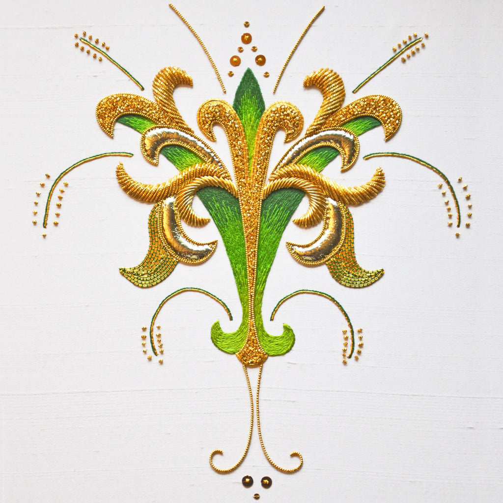 Goldwork And Silk Shading Ely Knot