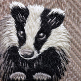 Thread Painting In Wool Badger