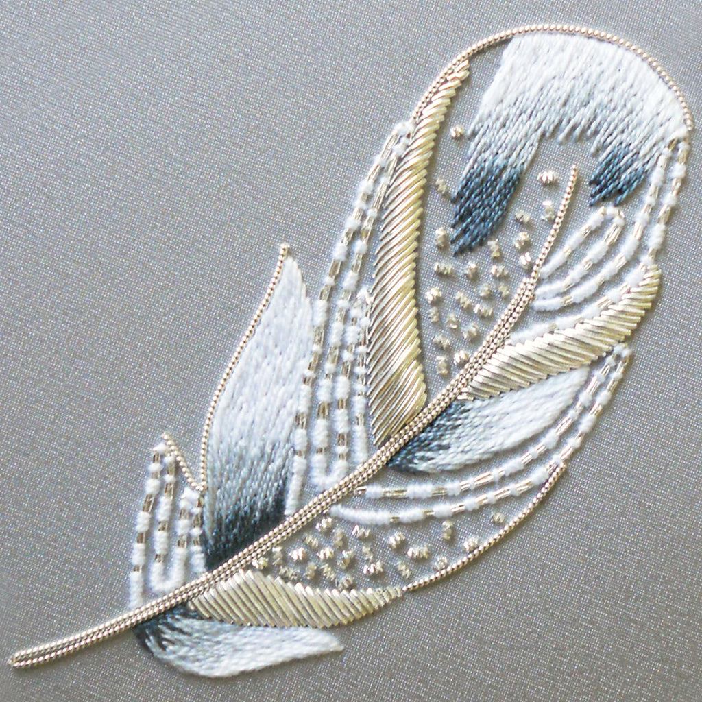 Metalwork Swan Feather