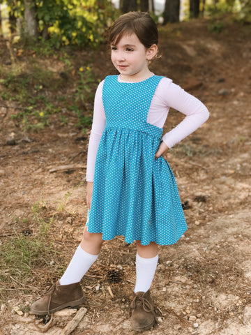 Darby Jumper in Turquoise Dot