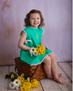 Wind Charmer Frances in Emerald, spring dress, easter dress, pre-order