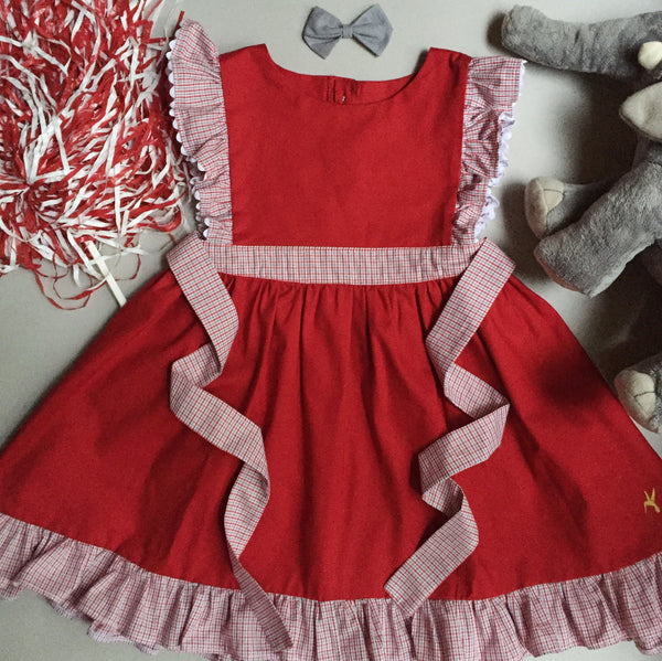 Football Penny Dress - Red