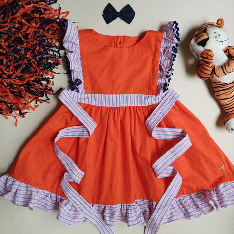 Football Penny Dress - Orange