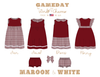 Maroon & White Collection