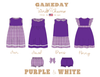 Purple & White Collection