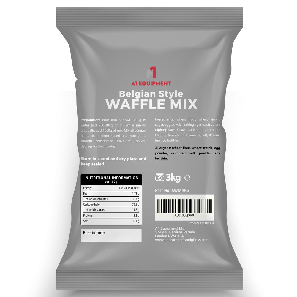 Belgian Style Crispy and Tasty Waffle Mix 3kg Bags (BOX OF 3 BAGS)