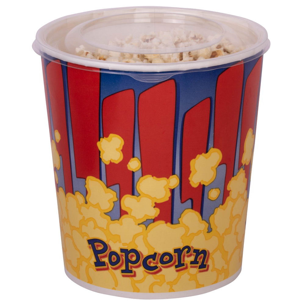 32oz Cinema-Style Popcorn Tubs with Lids