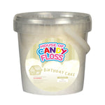 Small Birthday Cake Candy Floss Tubs 1L