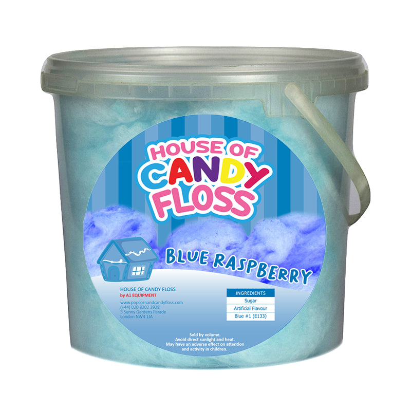 Large Blue Raspberry Candy Floss Tubs 2.5L