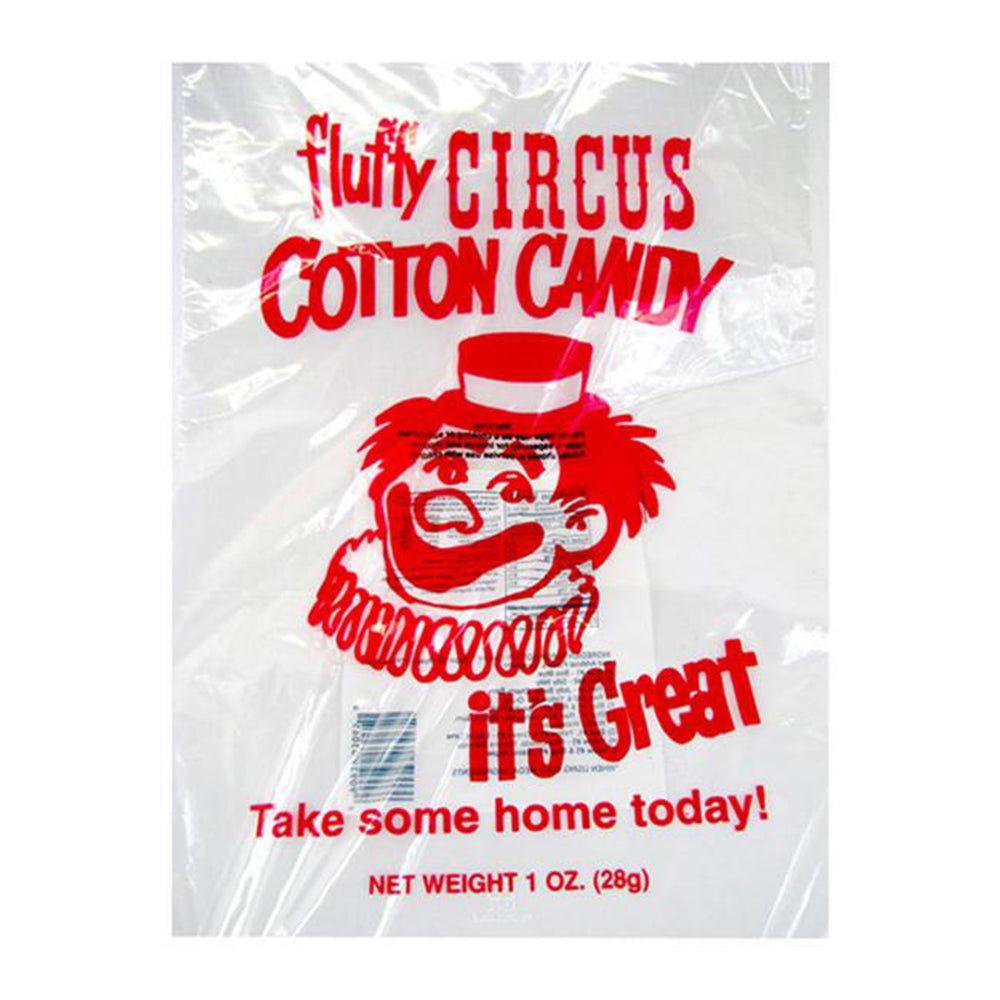 Red Clown Candy Floss Bags