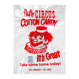 candy floss bag with red clown print
