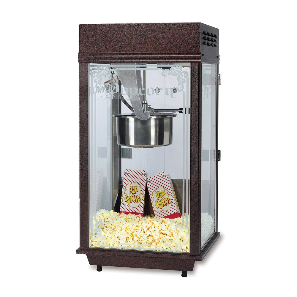 slim satin anodized popcorn machine