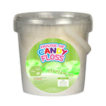 small tub filled with white candy floss