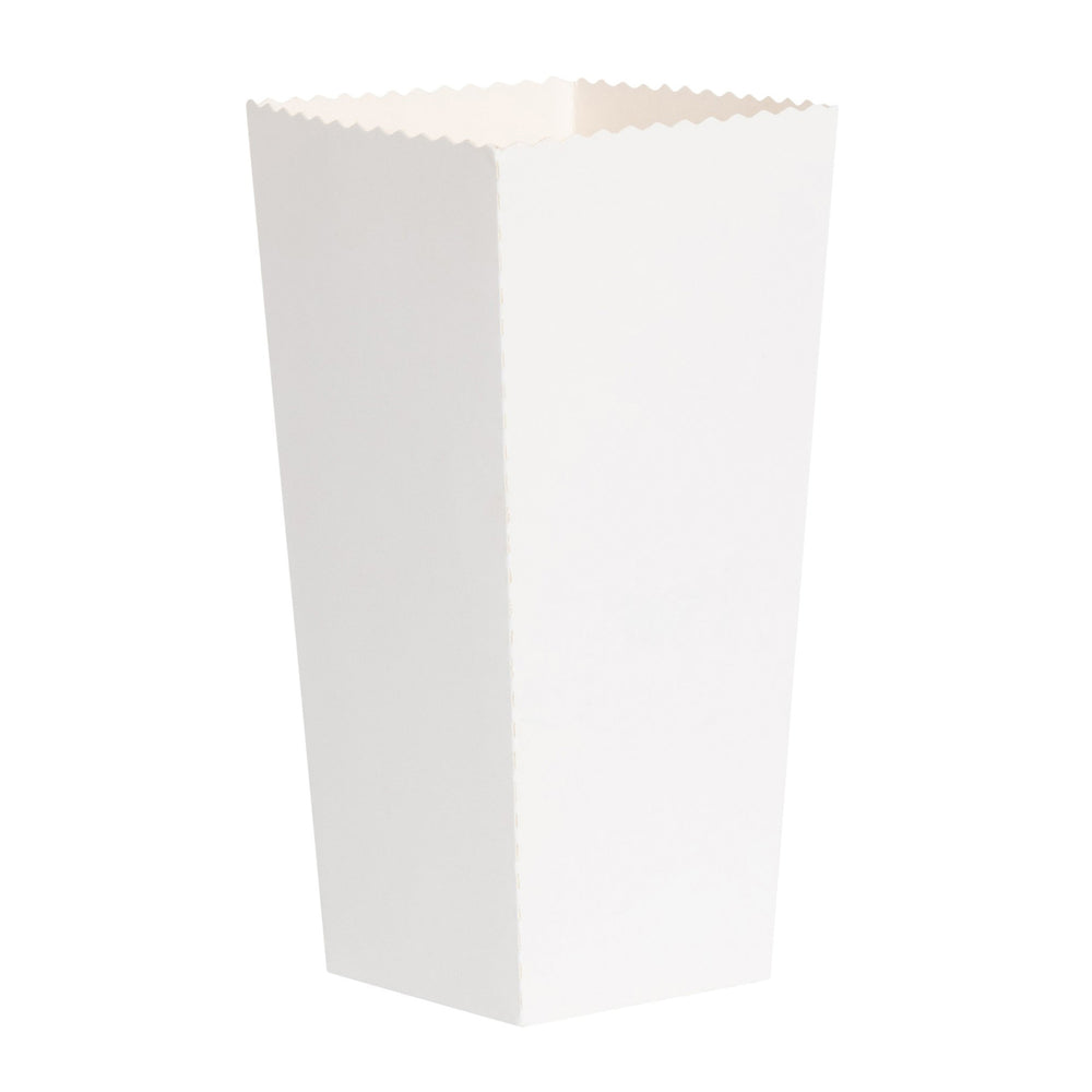 Plain White Popcorn Scoop Boxes