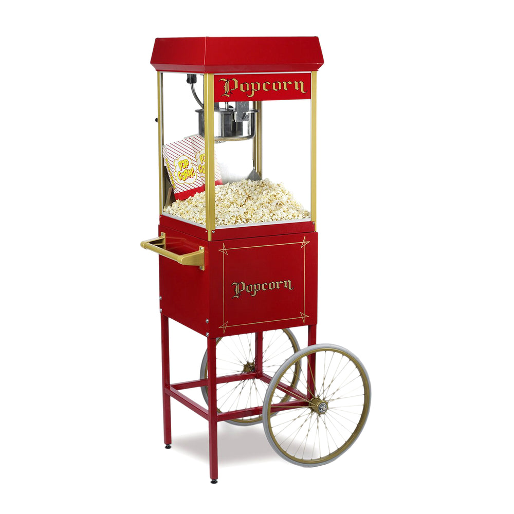 8oz Red Fun Pop Popcorn Machine + Cart