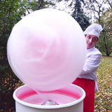 making of large candy floss