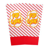 0.8oz Striped Popcorn Boxes
