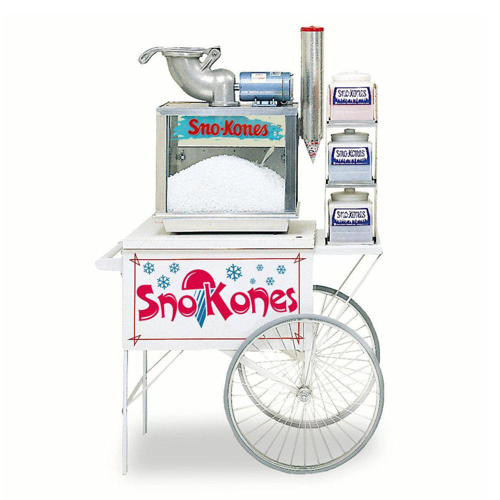 White Snow Cone Cart