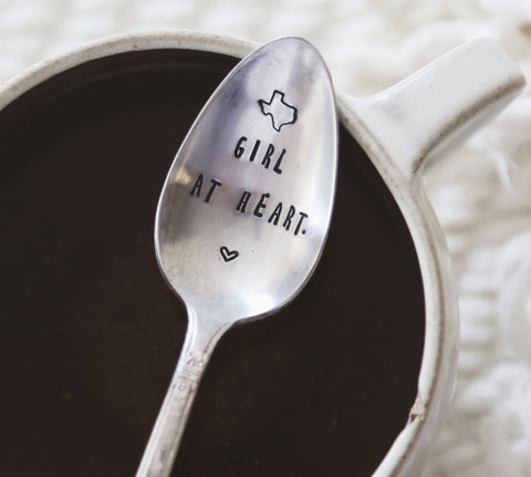 Texas Girl at Heart Vintage Coffee Spoon from jessicaNdesigns™!
