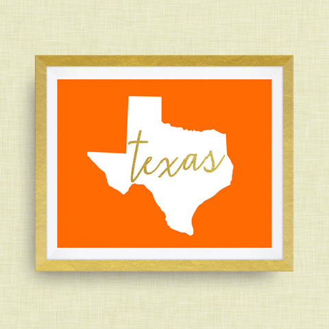 Hand Drawn Texas Art Print by cr2f