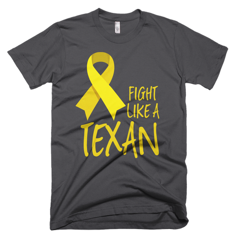 FIGHT LIKE A TEXAN Childhood Cancer Support Adult Tee