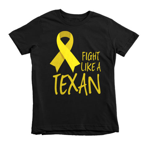FIGHT LIKE A TEXAN Childhood Cancer Awareness Youth Tee