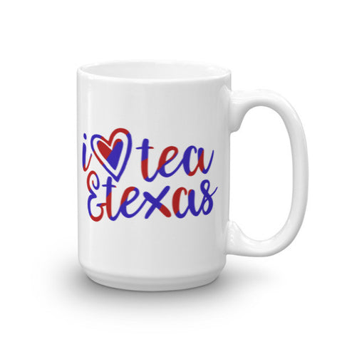 I Love Tea & Texas Mug
