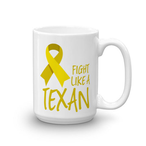 Fight Like a Texan Childhood Cancer Support Mug