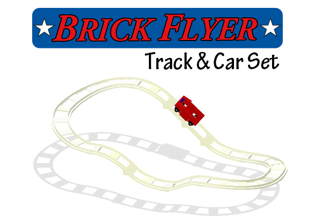 BrickCoaster Brick Flyer Roller Coaster Track LEGO