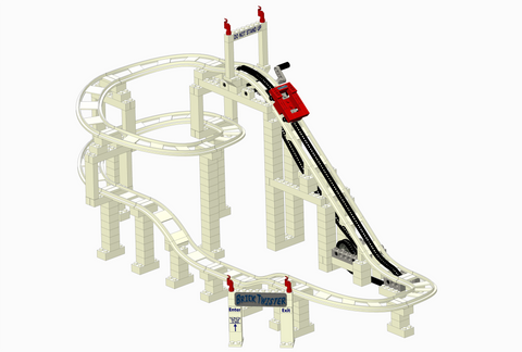 LEGO BrickCoaster Roller Coaster Brick Dipper Twister