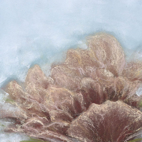 Lovely floral piece done in pastels. This piece has a mate.