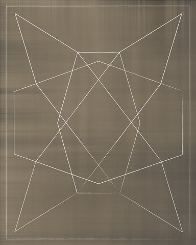 Simple piece with light patterns against a brown background. This piece is a part of a series of six, Vintage Graphic I, II, III, IV, V, and VI.