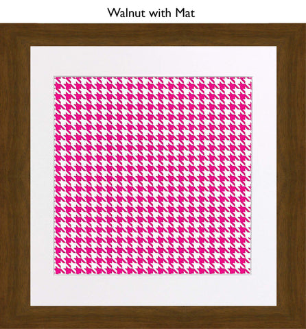 Houndstooth Pink – Bad Dog Editions