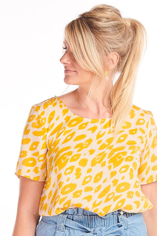 Yellow Leopard Top