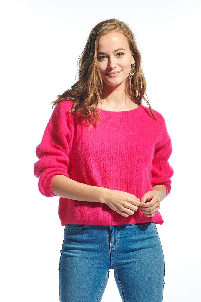 Romy Knit Sweater Fuxia