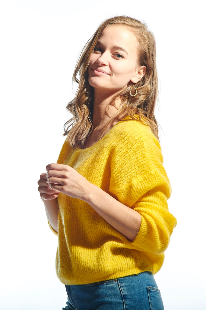 Romy Knit Sweater Yellow