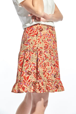 Isa Skirt Red Flower