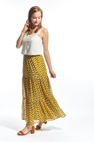 Rosa Skirt Yellow Flowers