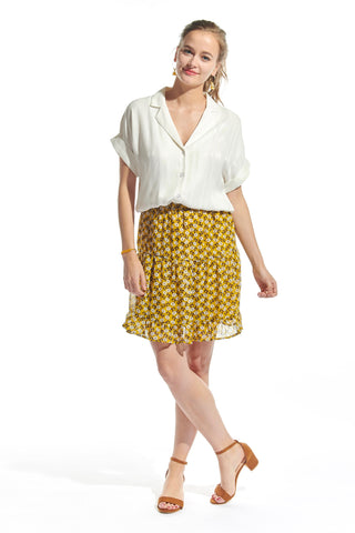 Isa Skirt Yellow Flowers