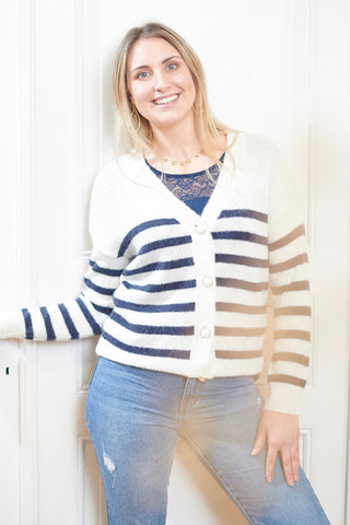 Vigood Stripe Cardigan