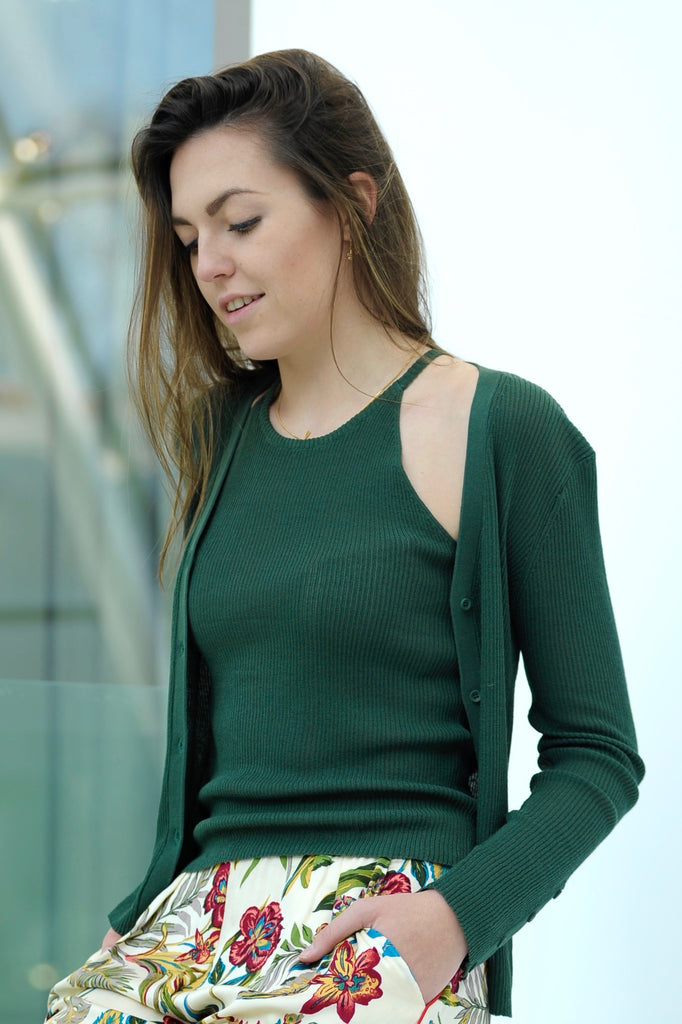 Green Knitted Twinset