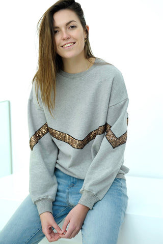 Tuline Sequin Sweater