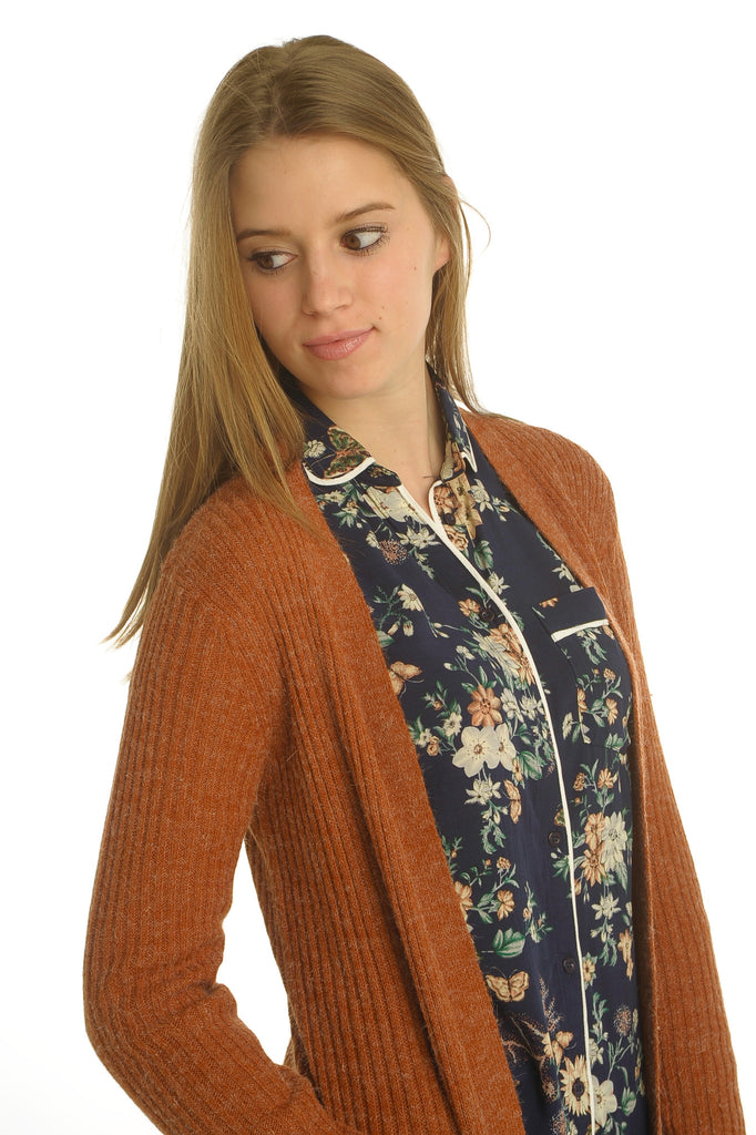 Burned Orange Cardigan