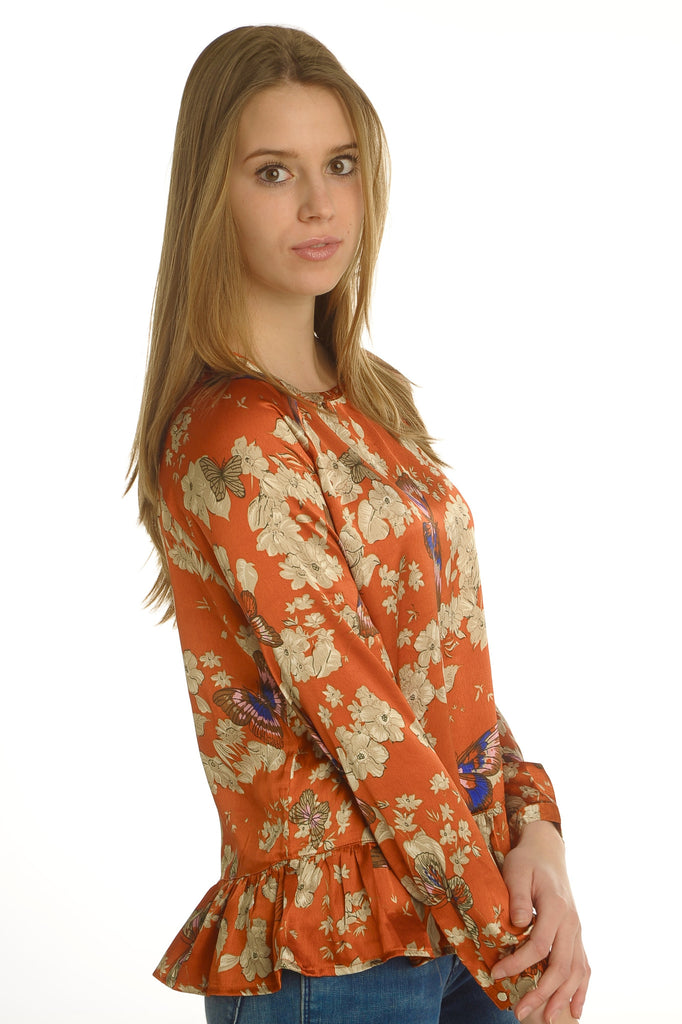 Flower & Butterfly Blouse
