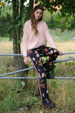 Black Flower Pants