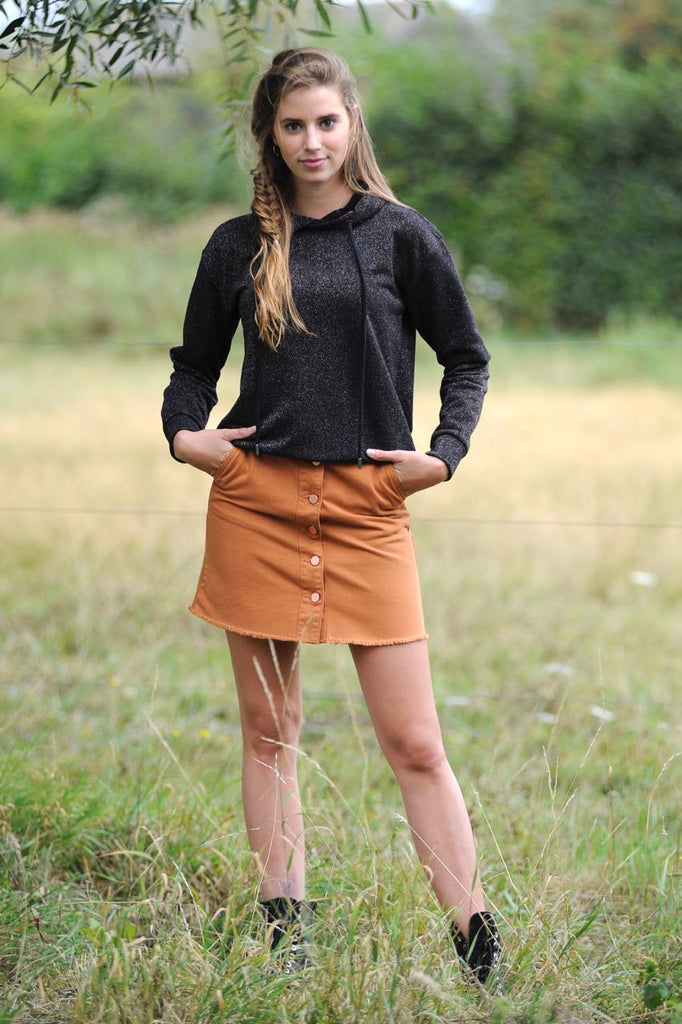 Soleia Skirt Leather Brown
