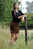 Leopard Knitted Skirt
