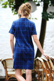 Claire Checkered Sweat Dress