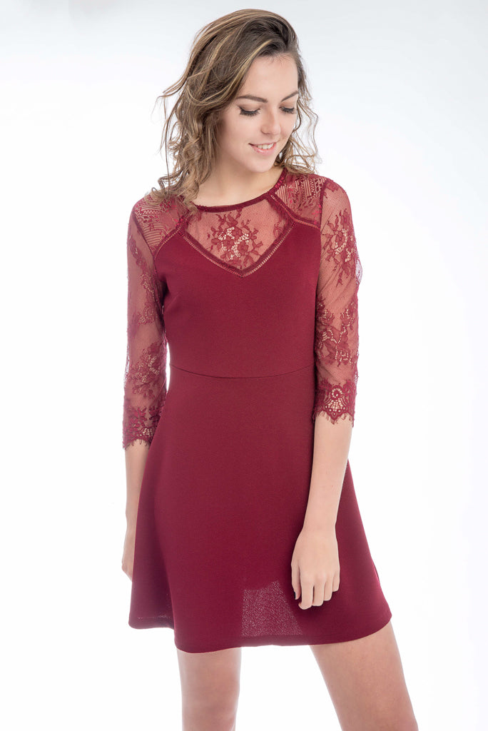 Bordeaux Party Dress